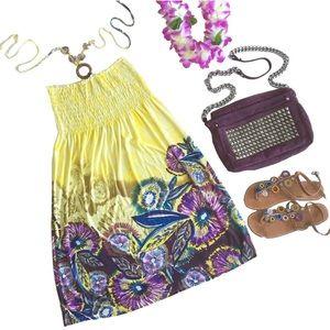 Vacation Vibes ஐ Wood Bead Print Halter Dress
